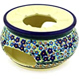Polish Pottery Heater 5-inch Forget Me Not Basket UNIKAT