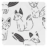 Sweet JoJo Designs Fabric Memory/Memo Photo Bulletin Board for Black and White Fox Collection