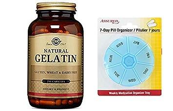 Solgar gelatina cápsulas con carbonato de calcio, cuenta 250 con gratis 7 días plástico píldora
