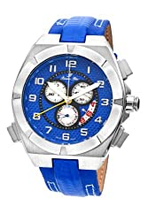 Porsamo Bleu Ibiza Double Layer Genuine Leather Silver Tone & Blue Men's Watch 123CIBL