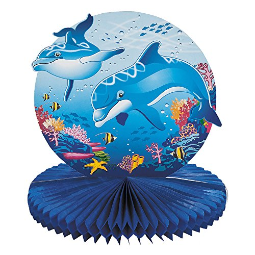 (Dolphin Party Tissue Centerpiece - Party Tableware & Table Decorations)