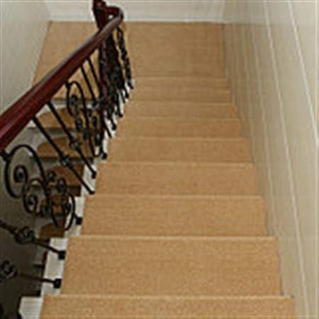 N / A Alfombra de la Escalera Escalera Estera del Paso Antideslizante Tienda Llena Pegamento Libre autoadhesiva Estera Escalera de Madera Maciza Alfombra de la Escalera para casa: Amazon.es: Hogar