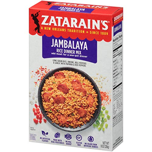 Zatarain's Jambalaya Rice Mix, 8 oz (Pack of 12) (Mix Rice Jambalaya)