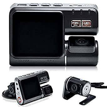 DBPOWER 1080P HD Dual Lens Dashboard Car Vehicle Camera Video Recorder DVR G-sensor CAM