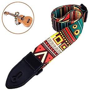 Gitarrengurt, Gitarrengurt Unique Vintage Woven Einstellbar Gitarre Zubehör 2 Strap Locks, Verstellbarer…