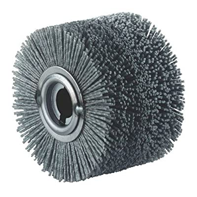 4-Inch X 5-Inch Plastic Embedded Abrasive Wheel Round brush for graining and deburring metals and adding rustic effects on wood fits Metabo Roxx Hardin BLUEROCK