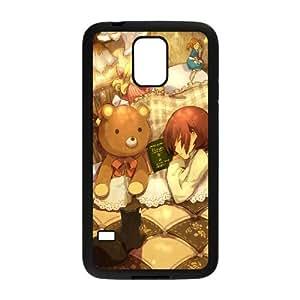 Niza caja del teléfono celular de dibujos animados Samsung Galaxy S5 funda Negro caja del teléfono celular Funda Cubierta EEECBCAAL71979