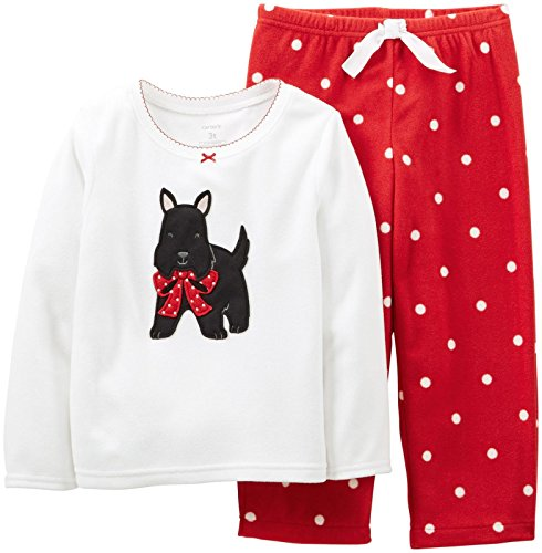 Carter's Baby Girls' 2 Piece Holiday PJ Set (Baby) - Scottie - 12 Months
