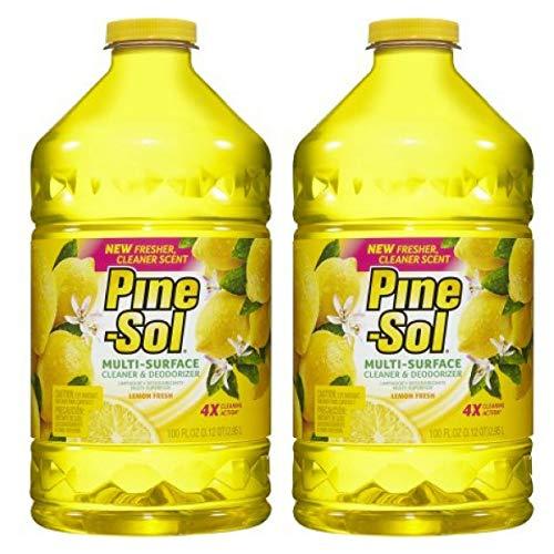 Pine-Sol Multi-Surface Cleaner, Lemon Fresh, 100 oz - Pack of 2