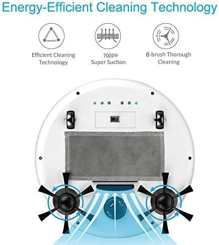 Robot Nettoyeur de Sol Intelligent 4 en 1 USB de Charge Robot de Balayage Intelligent Automatique Aspirateurs puissants d\'aspirateur, Rose