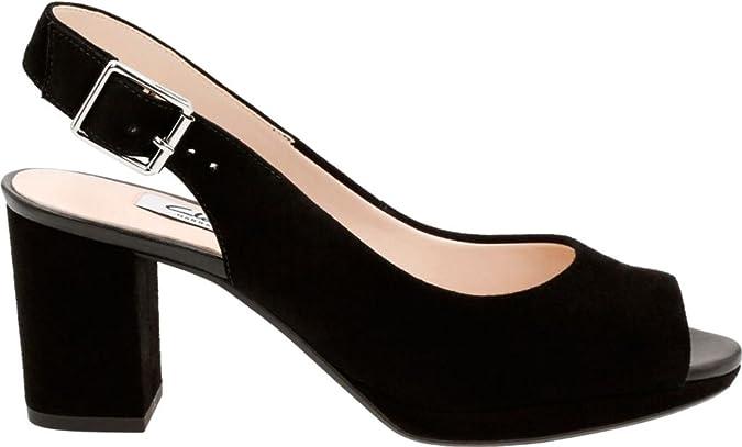 Womens Kelda Spring Open Toe Heel Sandals Clarks 6dhfvs