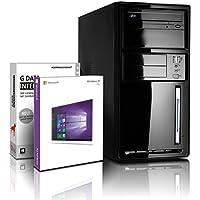 Shinobee PC Unité centrale pour ordinateur de bureau (Processeur Intel - Quad-Core - 4x2GHz, 2.41GHz en mode turbo - 500Go SATA3 - Intel HD Graphics - Mémoire RAM 8Go - Windows10 64 Bits - Lecteur graveur DVD - HDMI, USB 3.0) #5513