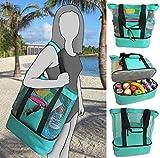 Ladies Picnic Bag Mesh Refrigerator Compartment