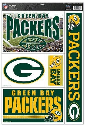 "Green Bay Packers NFL 11""x17"" Ultra Decal Sheet"