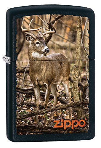 Zippo Personalized Message Engraved on Backside Deer Windproof Zippo -