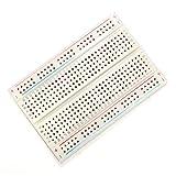 Pukido 5pcs 8.5 x 5.5cm White 400 Holes Solderless Breadboard For Arduino