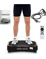 HALSEA VT3.0 Ultraslim Vibrationsplatte vibrationstrainer Profi Home Vibrationsgeräte Schwarz/weiß