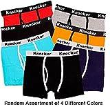 Knocker Men's 4 Pack of Stretch Cotton Color Boxer Briefs-2XL