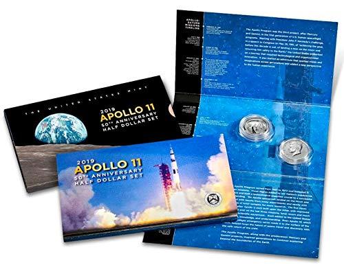 (2019 S Commemorative Apollo 11 50th Anniversary Half Dollar Set .50 Proof US Mint)