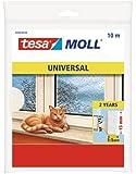 Tesa 05454-00100-00 - Burlete de espuma, 10 m x 15 mm, color blanco