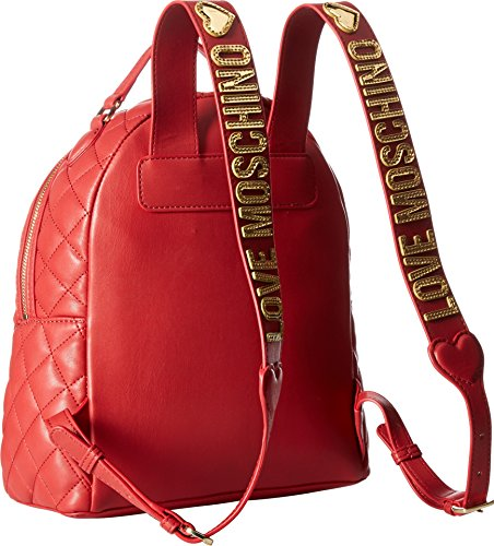 LOVE Moschino Women's Fashion Quilted Backpack Red One Size by Love Moschino (Image #1)