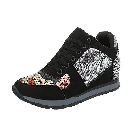 Ital Plataforma Negro Multi Zapatillas Altas Ltp520 para Mujer Zapatos w8 Zapatillas Design wwx1SBqfAT