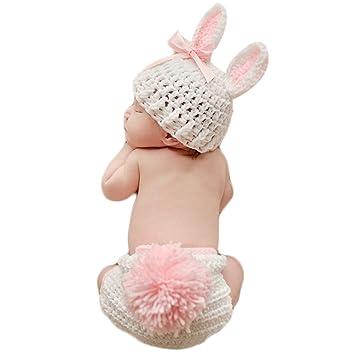 QHGstore Baby Kleidung Niedlich häkeln neugeborene Baby Foto Props ...