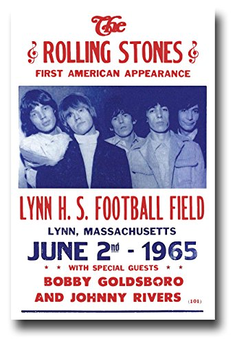 (The Rolling Stones Poster Concert Promo 11 x 17 inches First American Appearance)
