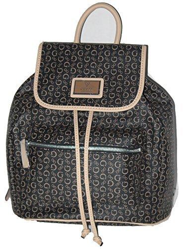 Guess PARKSTREET Natural Brown Tan Signature Print Backpack Shoulder Bag