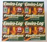 Enviro-Log Environment Friendly Firestarters 4 PACK for Fireplace Wood Stove Fire Pit