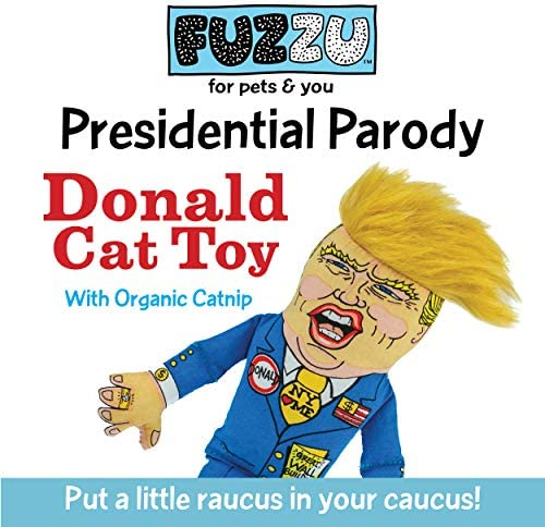 FUZZU Donald Trump Political Parody Fun Cat Toys - Great Gift for Cats & Their People, Hand Illustrated Design, Premium Quality, Durable Non-Toxic, Fiberfill & U.S. Grown Certified Organic Catnip 4