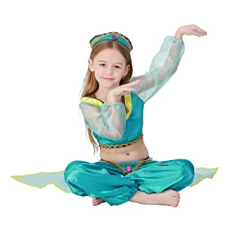 Amazon.com: QZ Kids Girl Green Arab Princess Children Belly ...