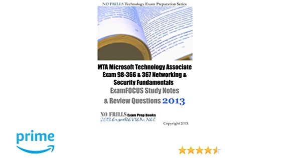 mta microsoft technology associate exam 98 366 367 networking rh amazon com MTA Logo security fundamentals mta exam 98-367 study guide pdf
