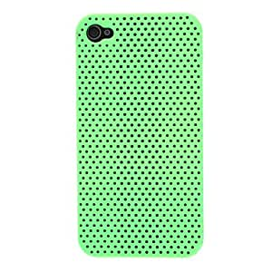 xiao Solid Color Mesh Pattern PC Hard Case for iPhone 4/4S (Assorted Colors) , Yellow