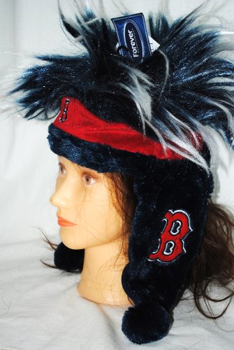 Boston Red Sox Official MLB Baseball Troll Hair winter Stadium Dangle Hat by Forever collectibles