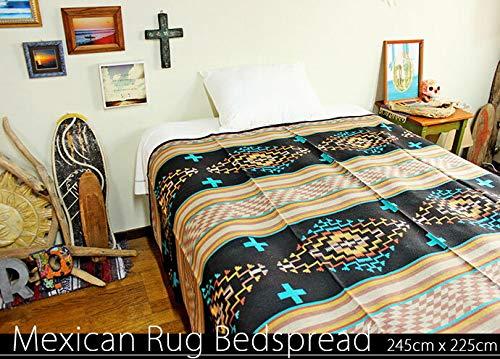 RUG&PIECE ネイティブ柄 エクストラメキシカンラグマットカバー240cm×220cm (rug-6349)   B07HM1W1RH
