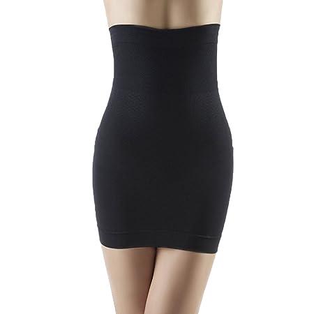 30f7e1fc63 Body Shaper Firm Control High Waist Shaper Skirt Half Slip Shapewear for  Women Black L  Amazon.co.uk  Kitchen   Home