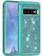 J&D Case Compatibel met Samsung Galaxy S10 Plus/Galaxy S10+ Hoesje, Sprankelend Glitter ArmorBox Dubbellaagse Schokbestendige Hybride Robuuste beschermende case, Niet voor Galaxy S10/S10e/S10 5G