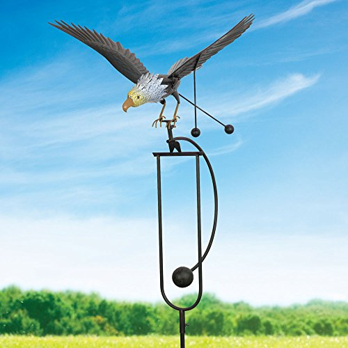 Bits and Pieces - Flying Eagle Garden Stake - Metal Garden Sculpture - Outdoor Lawn and Garden Décor by Bits and Pieces