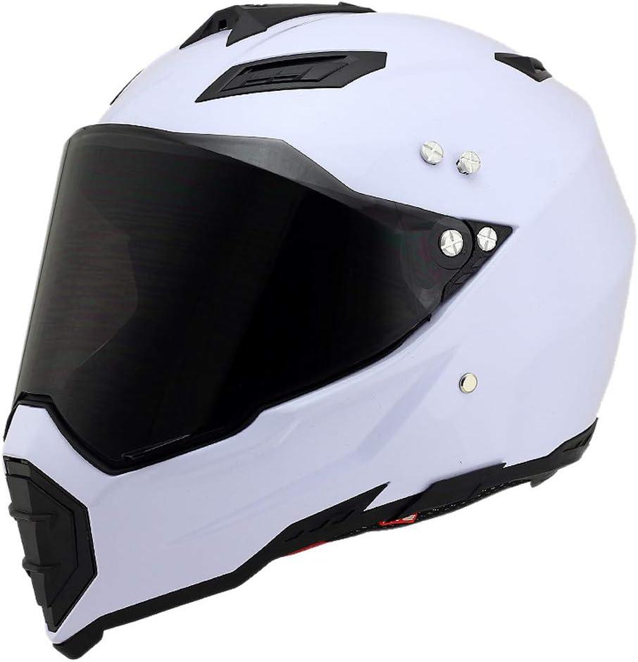 Woljay Casques motocross Casque sport moto sport double sport Salet/é Bicyclette XL, Noir + Argent