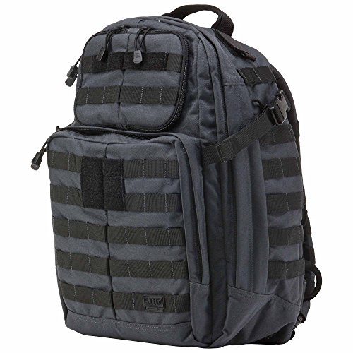 5.11 RUSH24 Military Tactical Backpack, Molle Rucksack Bug Out Bag, Medium, Style 58601, Double Tap