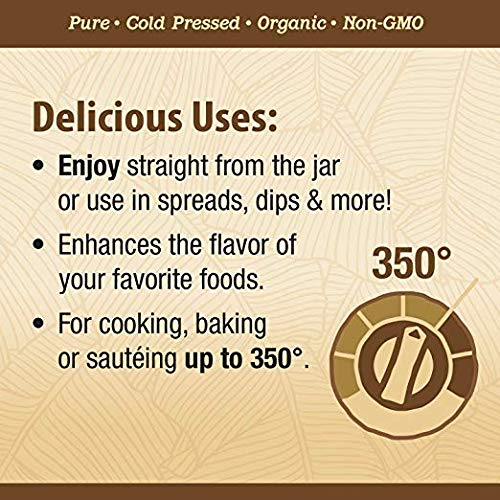 Nature's Way Organic Extra Virgin Coconut Oil- Pure, Cold-pressed, Organic, Non-GMO, (Two Pack - 32 Ounce) by Nature's Way (Image #4)
