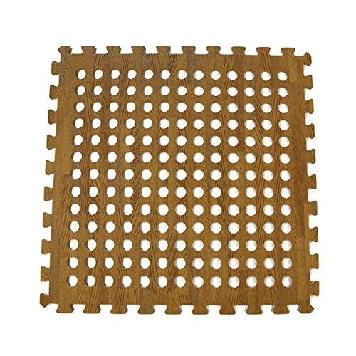 Gateway Bear Wood Tile Durable Foam Interlocking Instant Flooring Tiles 60 x 60cm 4 Tiles 8 Edges Gateway Leisure