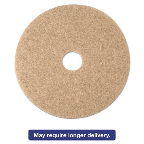 3M Ultra High-Speed Natural Blend Floor Burnishing Pads 3500, 17in, Tan, 5/CT MCO 19005