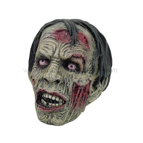 PTC Pacific Giftware Dead Zombie Head with Hair Skull Resin Statue Figurine]()
