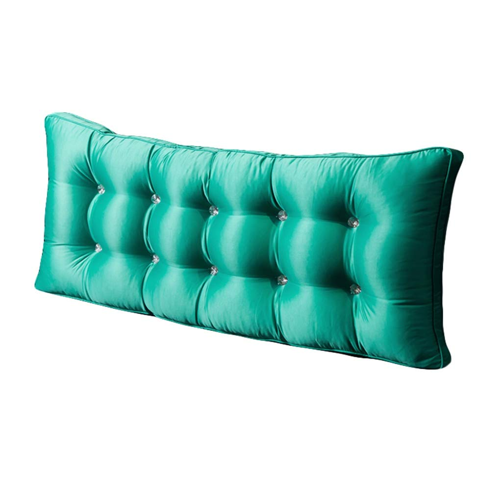 BZXLKD01 Headboard Cushion Kingsize Bilateral Pillow Bedside Home Dual Use Soft Case Reading Pillows for Bed Back Support Wedge Type Cushion (Color : Tiffany Blue, Size : 606010CM) by BZXLKD01
