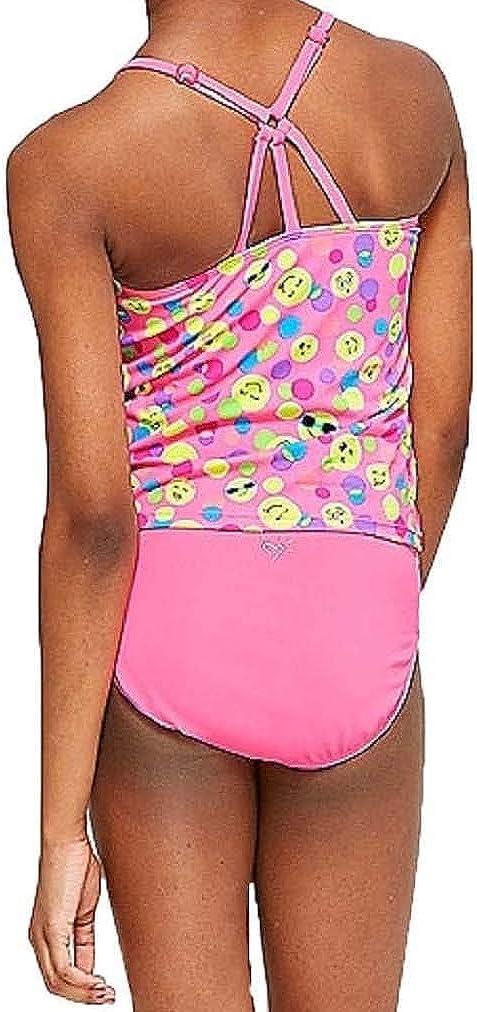 Justice Girls Emoji Dot Tiered Tankini Swimsuit Size 12