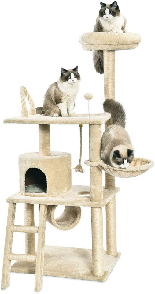 AmazonBasics Multi-Level Cat Tree with Scratching Posts 51rRomt9GvL