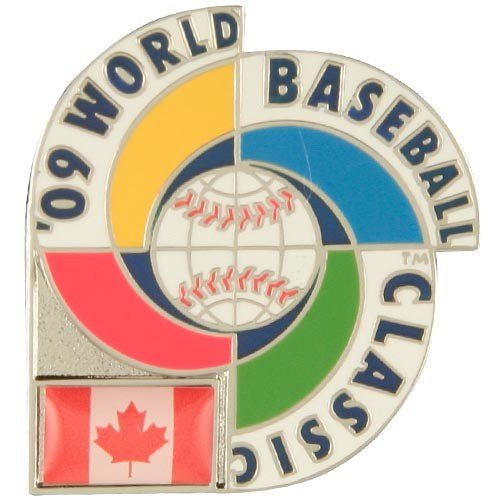 World Baseball Classic Canada 2009 World Baseball Classic Logo Pin with Flag