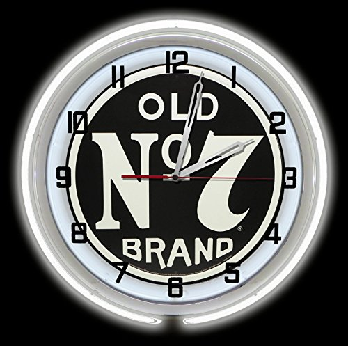 "Jack Daniels Old No 7 18"" White Double Neon Clock from Redeye Laserworks"